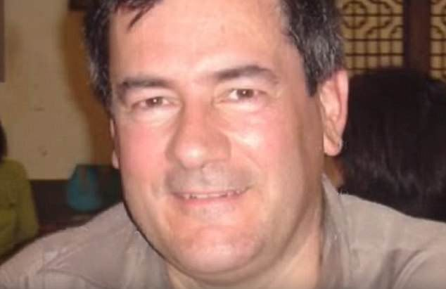 photo of ex spy herve jaubert with him smiling st the camera wearing a sand coloured t shirt